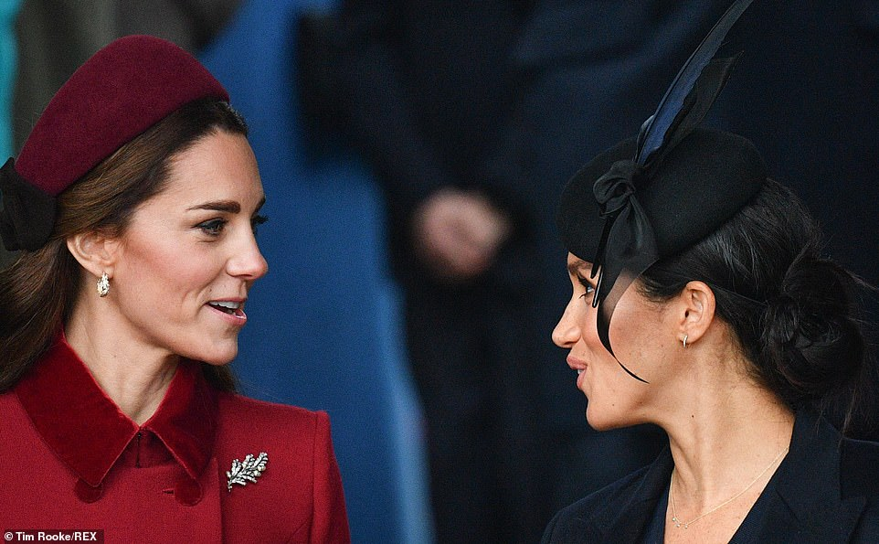 The Duchess of Cambridge and the Duchess of Sussex appeared to be on friendly terms