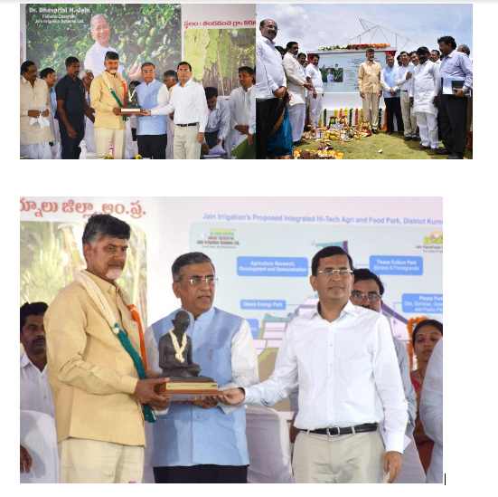 New Chapter in Agricultural Progress with Andhra Pradesh Government and Jain Irrigation:  N. Chandrababu Naidu