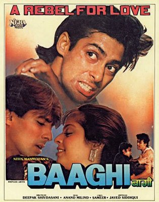 Poster of Baaghi A Rebel for Love 1990 [Full-Hindi-Movie] 720p HDRip x264 Download