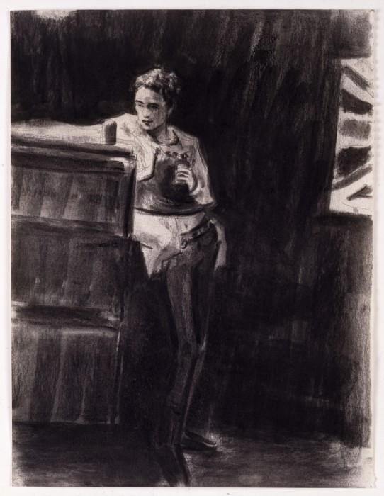 Elizabeth Peyton John Lydon, London, 1977, 1994 charcoal on paper  35,6 x 27,9 cm