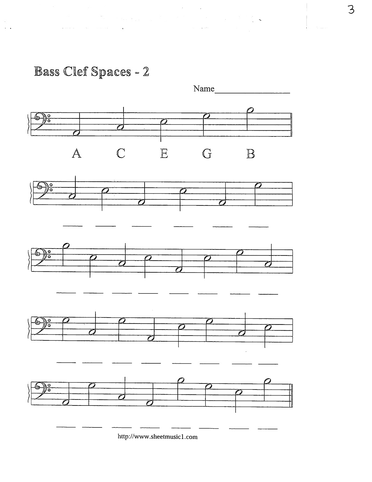 Bass Clef Note Names
