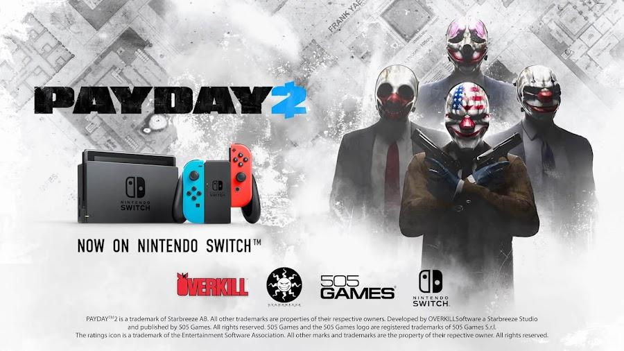 payday 2 nintendo switch