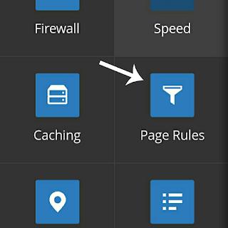 Setup Cloudflare on WordPress add page rule