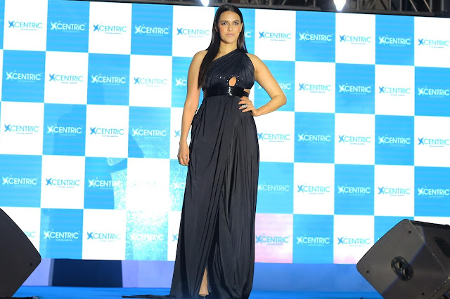 Bollywood Celeb Neha Dhupia at the launch of   CENTRiC Smartphones at the event in Mumbai.