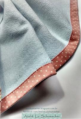 Pano de copa em patchwork - detalhe do acabamento