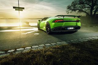 Novitec Lamborghini Huracan green colour