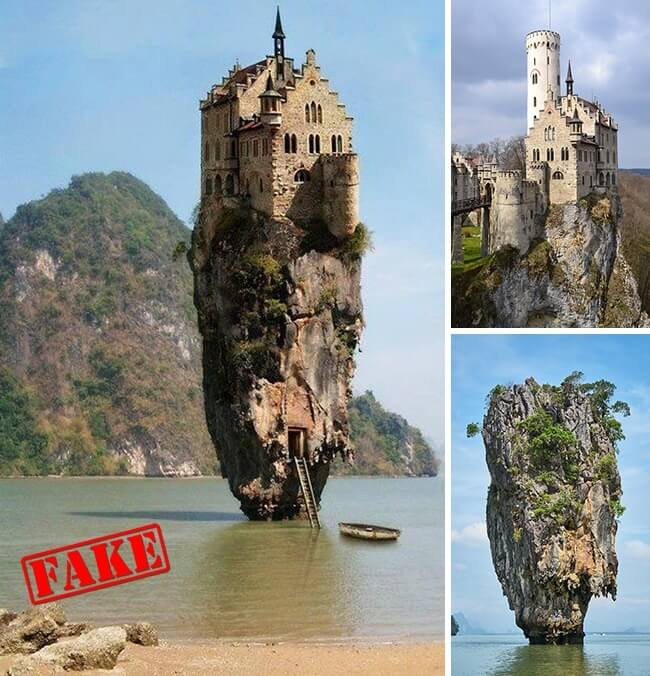10 Photos That Became Viral But Are Actually Edited - The Castle on the Mountain