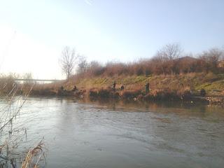 Yambol, Anglers, Fishing.Tundzha River