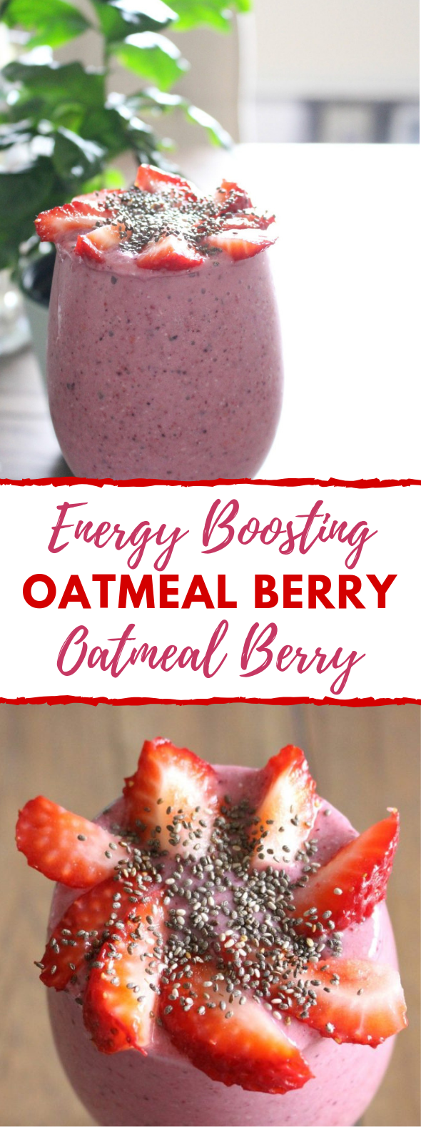 ENERGY BOOSTING OATMEAL BERRY BREAKFAST SMOOTHIE #healthydrink #sugarfree