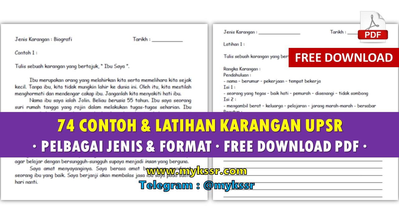 74 Contoh Latihan Karangan Upsr Pelbagai Jenis Format Free