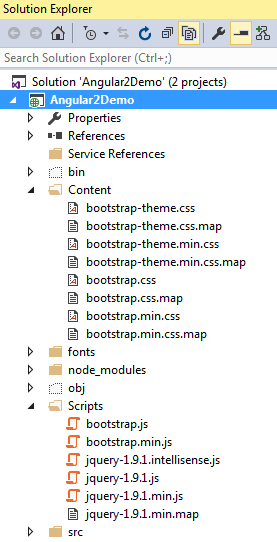 bootstrap in visual studio