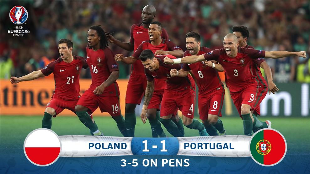 Kalahkan Polandia, Portugal ke Semifinal Euro 2016