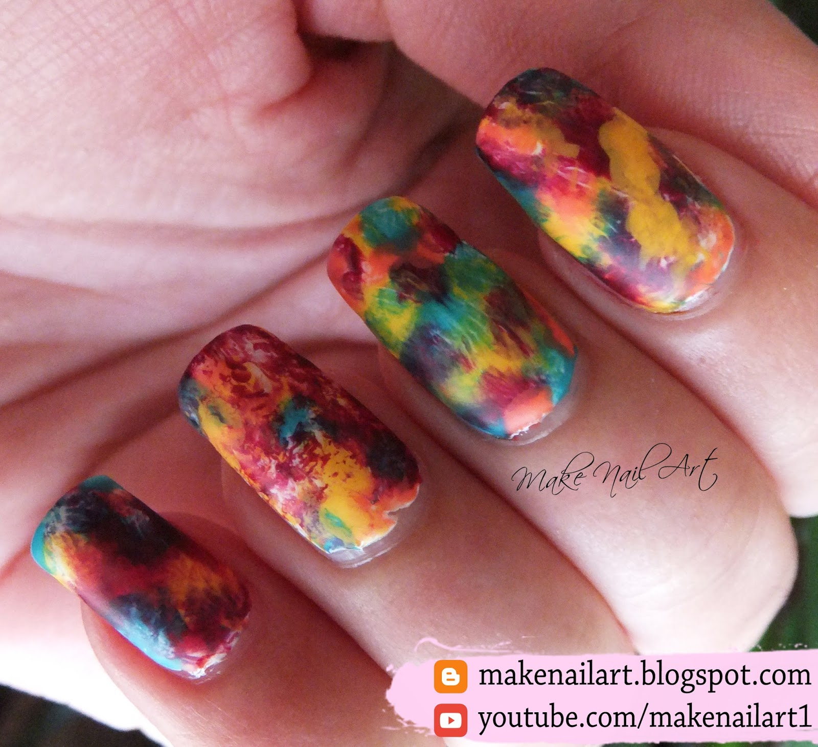 Make Nail Art: Easy Autumn Nail Art Design Tutorial