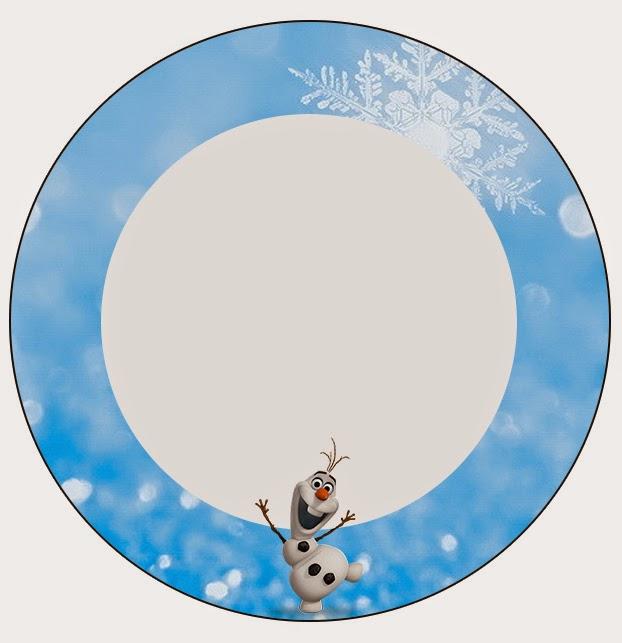 Toppers o etiquetas de Olaf para imprimir gratis.