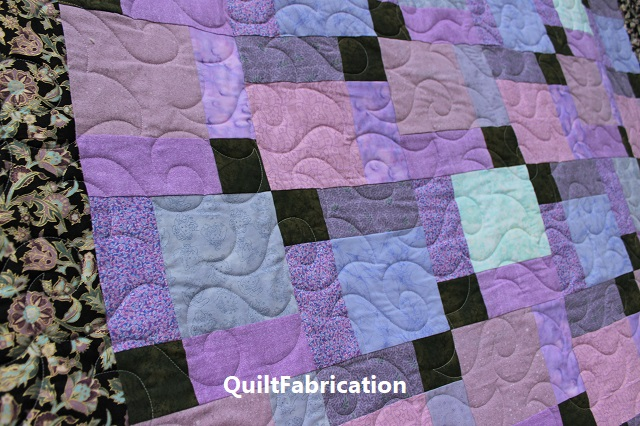 Paradise 3 quilt with Happy Times pantograph