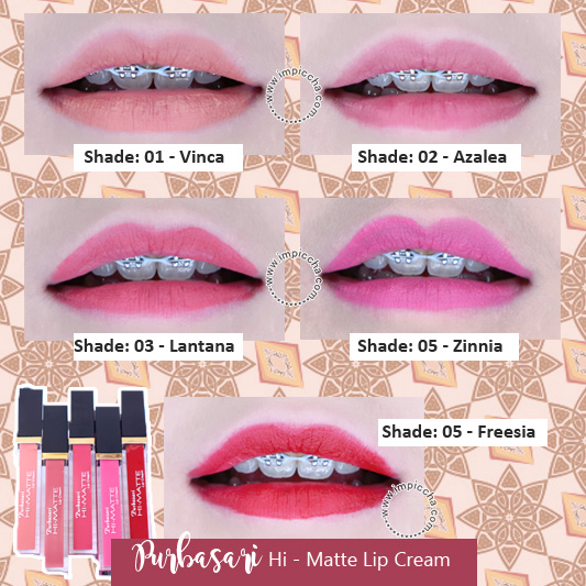 Swatch Purbasari Hi - Matte Lip Cream