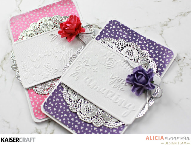 Kaisercraft Wildflower Embossed Cards by Alicia McNamara