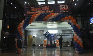 Dekorasi Balon Bank BRI