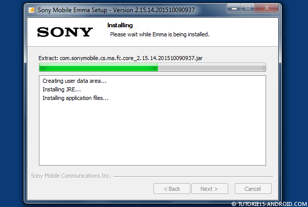 Installer EMMA Flash Tool Xperia