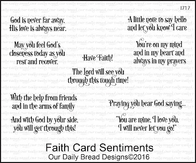Our Daily Bread Designs Stamp Set -  Faith Card Sentiments