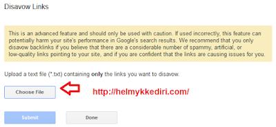 Memblokir Backlink Spam dengan Google Disavow0