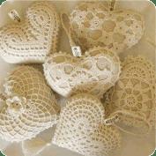 Aplique de corazón a crochet