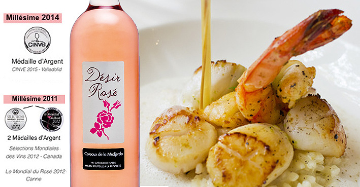 Domaine Shadrapa Desir Rose Grand Vin De Tunisie