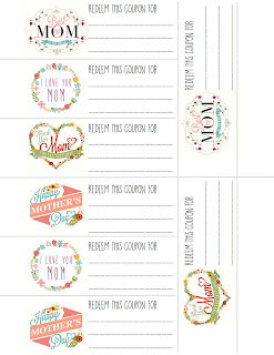cute coupon books for Mother's day and great coupon ideas!