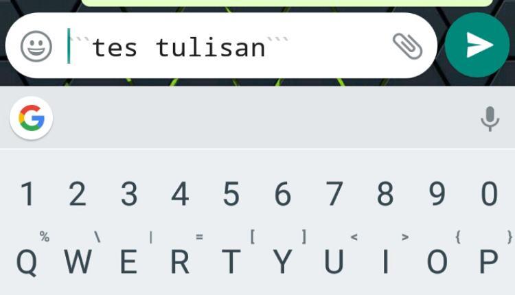 font membuat tulisan unik di WhatsApp