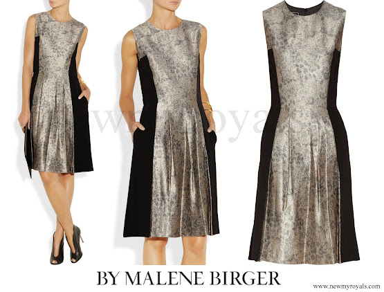 Princess Marie wore By Malene Birger Kalimi Metallic Jacquard Dress