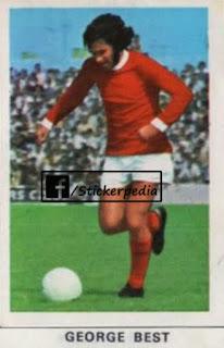 George Best Manchester United sticker FKS 1971 72