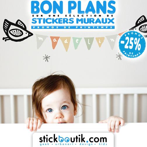 Stickboutik.com - Stickers Fanions Prénom par WeeGallery à -25%
