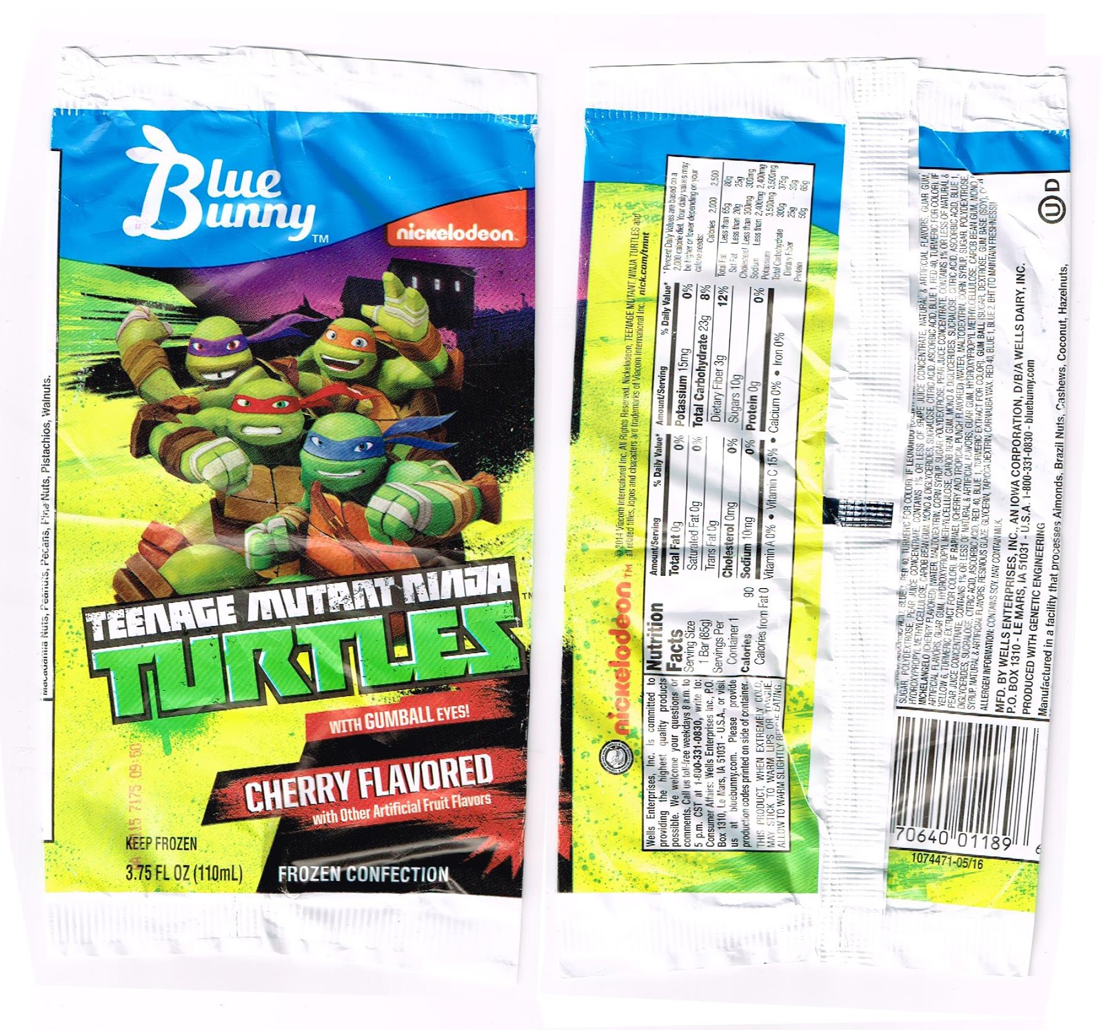 20 Years Before 2000 Ninja Turtle Ice Pops