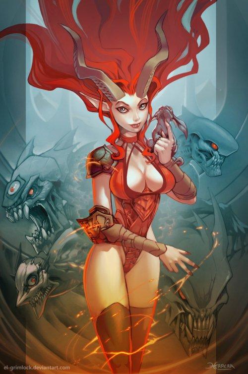 Mauricio Herrera el-grimlock deviantart ilustrações comics fantasia quadrinhos games
