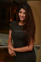 Priya Vadlamani super cute in tight brown dress at Stone Media Films production No 1 movie announcement 056.jpg