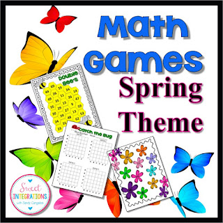 There are so many skills students can learn with hands-on math games. I've given you samples of games you can use at your math stations.
