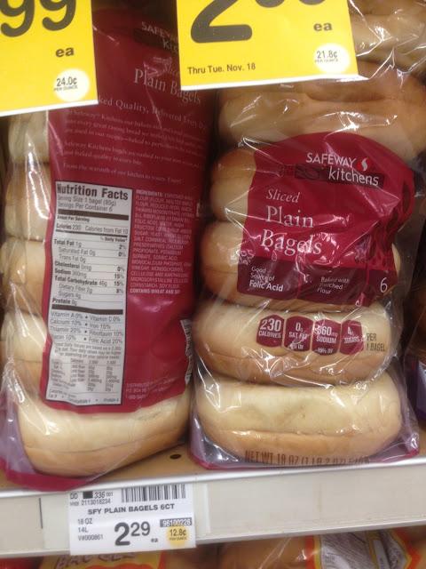 Plain Bagels, Safeway Kitchens - Safeway