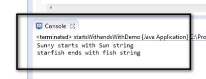 Java Endswith Method