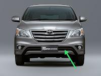 Harga dan Fisik : Grill Bawah/Kumis Toyota New Grand Innova