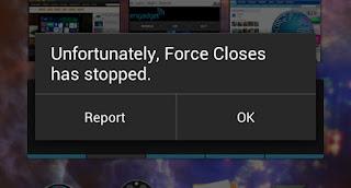 """Cara Jitu Mengatasi Sayang nya Aplikasi Telah Berhenti """" Force Close """" Pada Android"""