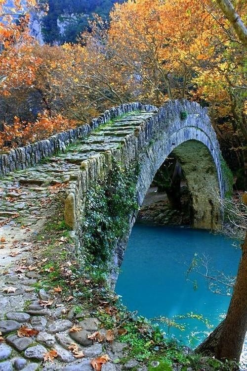 Ancient Stone Bridge Epirus Greece A1 Pictures