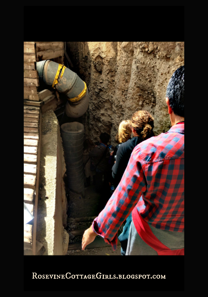 The Holy Land - Our group entering the ancient sewer systems of Jerusalem