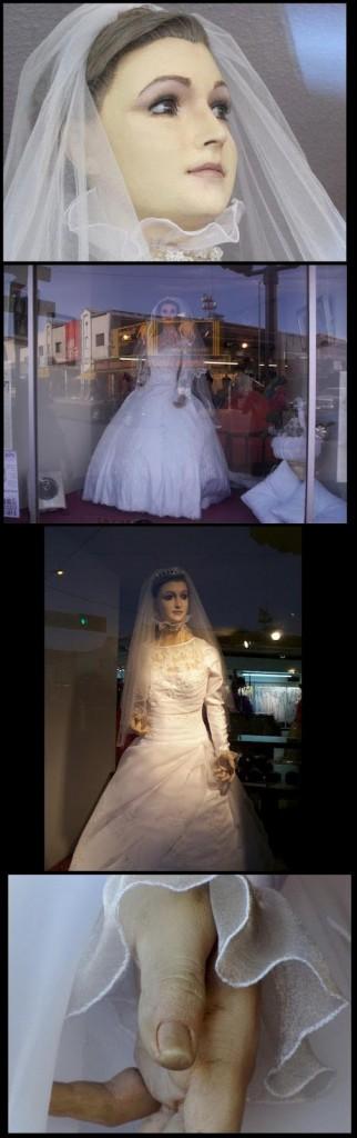 Mayat Dijadikan Patung Model Pakaian Pengantin