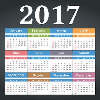 2017カレンダー無料テンプレート146