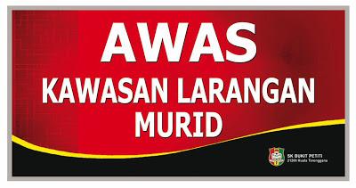 SK BUKIT PETITI  Kuala Terengganu PERINGATAN