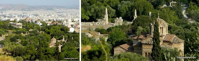 Ágora Antiga de Atenas vista da Encosta Norte da Acrópole