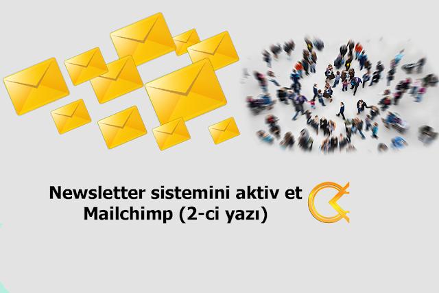 Newsletter sistemini aktiv et - Mailchimp (2-ci yazı)