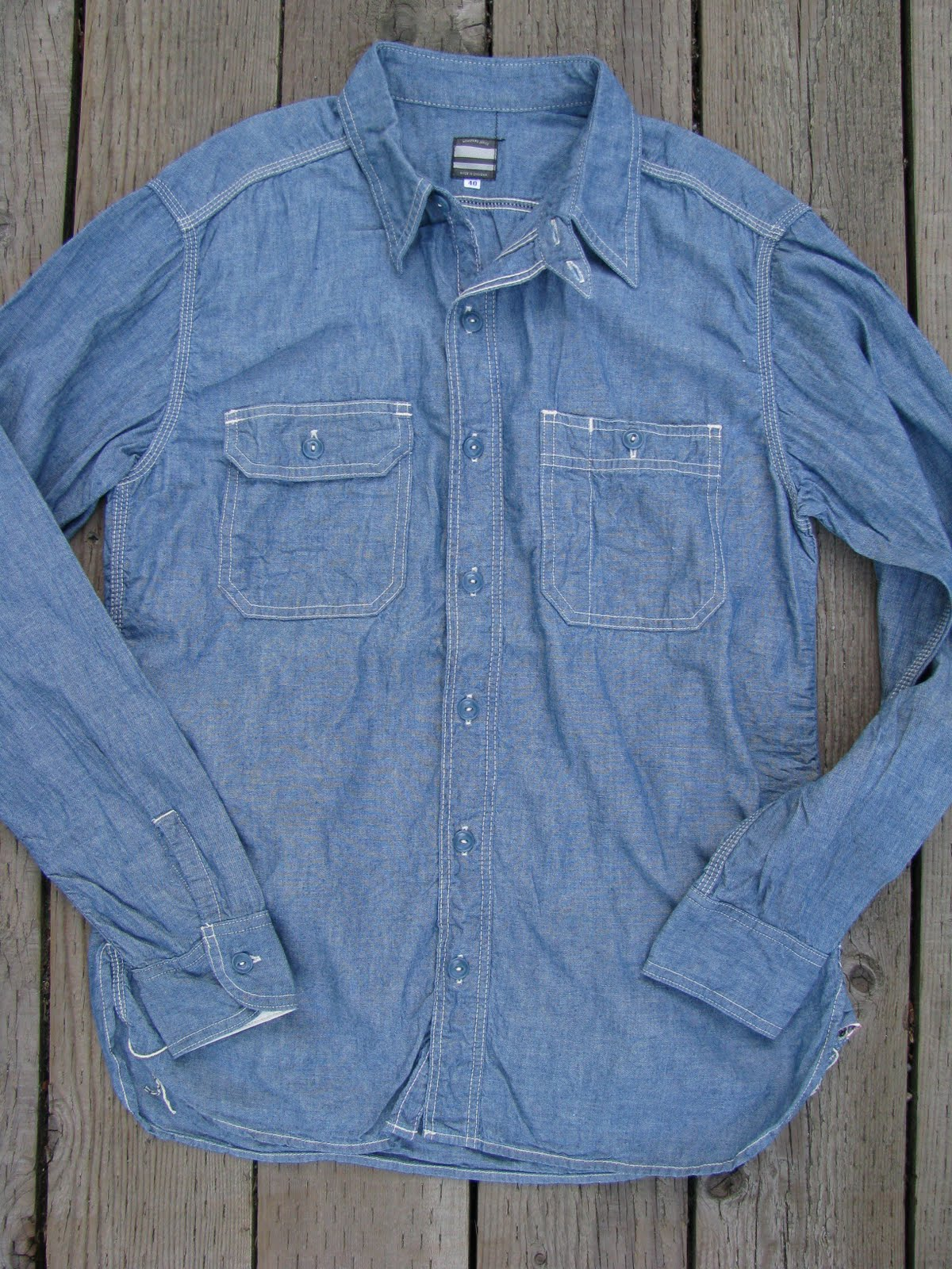 b2d1bdf7931 Momotaro 5oz Selvedge Chambray Work Shirts