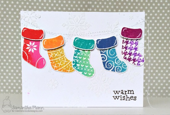 Christmas Stockings Card by Samantha Mann | Stylish Stockings Stamp Set by Newton's Nook Designs #newtonsnook #handmade
