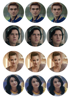 printable Riverdale cupcake toppers